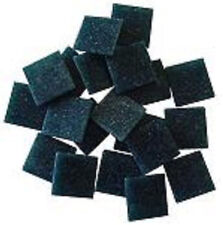 Glass Mosaic Tiles - 25 Tiles - 3/4 inch DARK TEAL Venetian Vitreous