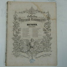 antique piano score BEETHOVEN sonata op.14/2 G maj