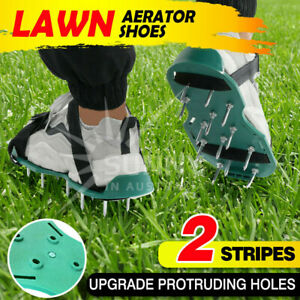 Garden Lawn Care Aerator Spiked Strapped Sandal Shoe Pair Fits All Heavy Duty