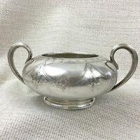 1889 Silber Platte Groß Zucker Schale Urne Topf Antik Elkington Blumen Girlande