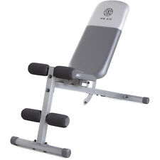 Golds Gym Workout Fitness Bench Full Adjustable Utility Exercise Lifting Weight