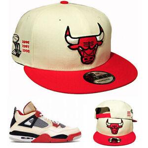 New Era NBA Chicago Bulls 6X Champ Casquette Snapback Mach Air Jordan 4 Rétro