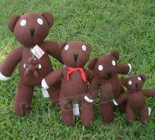 Brown Mr.Bean's Wear black necklace Teddy Bear Stuffed Animals brown doll