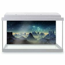 Fish Tank Background 90x45cm - Alien Planet Mountains Galaxy  #14286