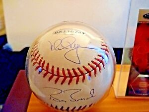 Mark MacGwire & Barry Bonds  COA Autographed Baseball. 2 All time 70+ HR champs