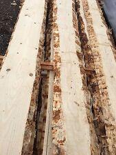 Holz Zaun Bretter Schwartenbretter ohne Rinde unbesäumte Schalung Schwarten