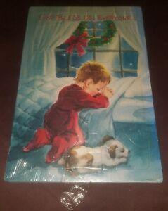 SEALED NEW Boy Praying Christmas tray puzzle Warner Press God Bless Us, Everyone