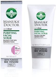Manuka Doctor ApiClear Balancing Purifying Facial Scrub Purified Bee Venom 100ml
