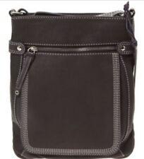 LLOYD BAKER black genuine leather across body crossbody messenger bag RRP £75