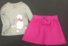 Gap & Crazy 8 Outfit - Poodle Top w/Hot Pink Skirt EUC/NWT Size 5