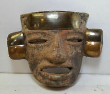 Clay Face Wall Hanging Vintage Mask