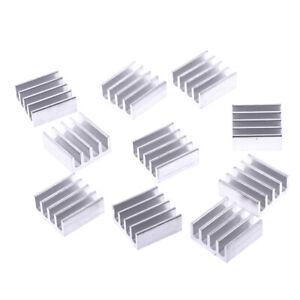 10 stücke 11 * 11 * 5mm Aluminium kühler kühlkörper elektronische chip kühlb WCY