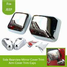 For Jeep Wrangler JK 2007-2017 Chrome Door Side Reviewer Mirror Cover Trim Kits