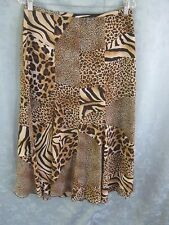 Conrad C Patchwork Animal Print Long Skirt Size 10 Lined