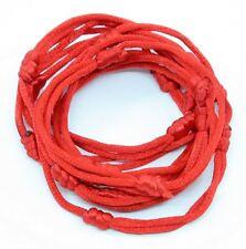 25 bracelets ROUGE à cordon chanceux kabbale faits main pour succès et chance