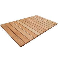 Pedana antiscivolo 105 x 62 cm per piatto doccia rettangolare con doghe in legno