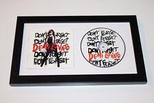 SINGER DEMI LOVATO SIGNED FRAMED DON'T FORGET CD COVER BOOKLET W/COA ALBUM