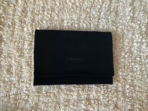 "CHANEL logo black small velvet dustbag for woc wallet bag 9""X6.3"" d5"