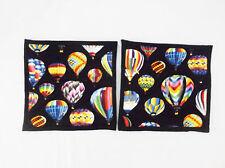 "Hot Air Balloons Pattern Potholder-9 X 9""-Set of 2 Handmade-Pizazz Creations"