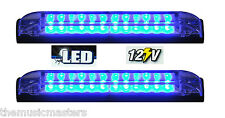 "2X BLUE 6"" Car Boat RV 12 LED LIGHT STRIP Waterproof 12V Marine Accent Lighting"