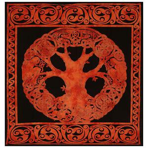 Mandala Celtic Bedspread Throw Cotton Hangings Queen Indian Handmade Tapestries