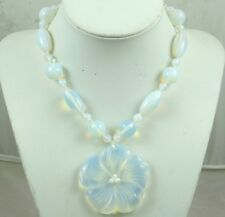 Natural  Opalite  flower Handmade Gemstone Jewellery Necklace
