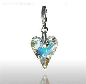 Charm Kristall Herz /Aurore Boreale /  Kristalle von Swarovski ®