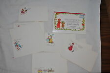 15 vintage post a note stationary + 14 Old Fashioned Christmas Post Card Usa