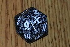 1 Black SPINDOWN Die 10th - 20 sided Spin Down Dice MtG Magic the Gathering