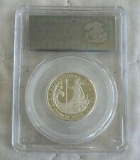 2012 £1 BRITANNIA SILVER PROOF SLABBED CGS 98 - 25th ANNIV PORTRAIT COLLECTION h