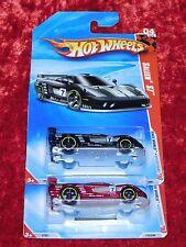 2010 Hot Wheels Race World Speedway Saleen S7 Black & Burgandy 2 PK