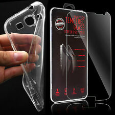TPU Silikon Schutz Hülle Bumper Case Tasche + Panzerglas - Samsung Galaxy S3 III