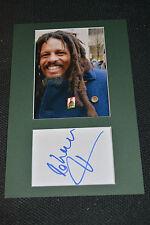 Rohan Marley SIGNED AUTOGRAFO originale in persona 20x30 PASSEPARTOUT Bob Marley