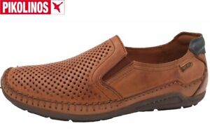 Pikolinos Herren Slipper Azores Braun Schuhe Leder 06H-3126