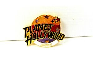 Planet Hollywood Aspen Collectible Pin Gold Globe w/Stars