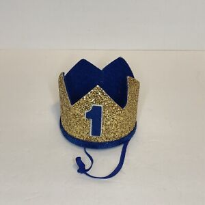 First Birthday Crown- Number 1 Crown- Small Child- Felt And Glitter