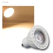 """5 x GU10 RÉFLECTEUR LED """" H60 COB """" 7W BLANC CHAUD 500LM Spot"""