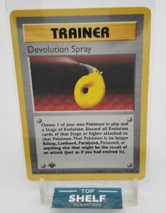 1999 Pokémon 1st Edition Base Set Devolution Spray Trainer 72/102 - Rare