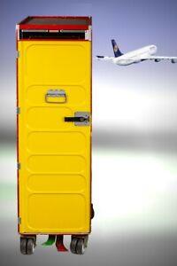 Lufthansa Flugzeugtrolley, Getränkewagen, Half Size Trolley, Rarität !