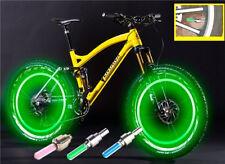 1X Safe Bright Bike Bicycle Cycling Car Wheel Tire Green Led Spoke Light Lamp sw
