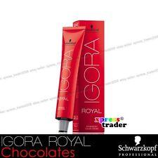Schwarzkopf Professional Igora Royal Permanent Colour Hair Dye 60ml Chocolates 3-68 Dark Brown Auburn Red