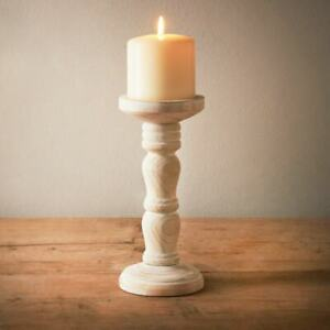 New Stylish Design Cosy Cottage Wooden Pillar Candle Stick Home Decor N-21
