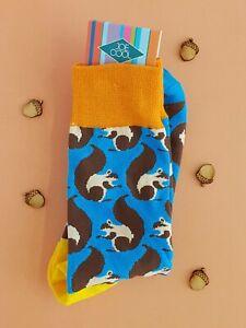 Women's Squirrel Socks (Pair) Colourful Animal socks
