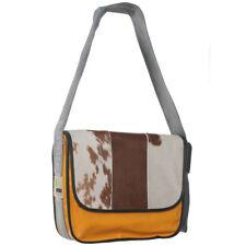 Messenger Bag PROVOKED orange COW braun Tasche Kuhfelltasche brown Umhängetasche