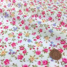 "per half metre Lucy floral roses white fabric  45"" (112cm ) wide 100 % cotton"