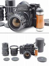 【N.MINT】 Pentax 6x7 MLU MUP TTL 67, T 55mm 75mm 200mm Lens, Grip from Japan #u13