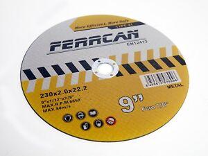 Disco de corte 230x2mm para metal (pack 25unidades)