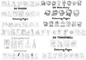 Character Colouring Pages - 20 Pages Per Pack - Buy 4 Get 1 Free!