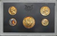 1969-S UNITED STATES MINT 5 COIN PROOF SET GORGEOUS COLOR TONED UNC BU (MR)