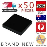 x50 LEGO® 2 x 2 Tile - Black - Part 3068 - Brand New Part - Free Shipping